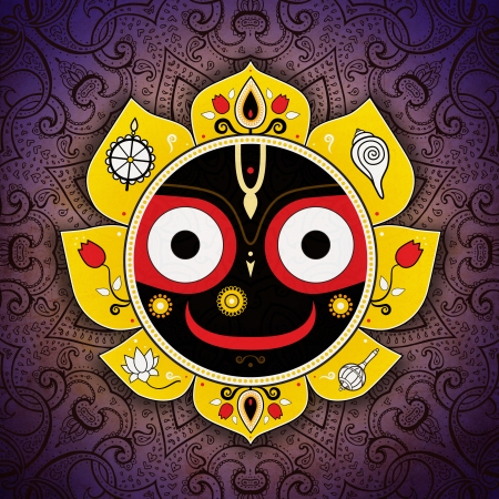 Jagannath. Indian God of the Universe. Lord Jagannatha. photo