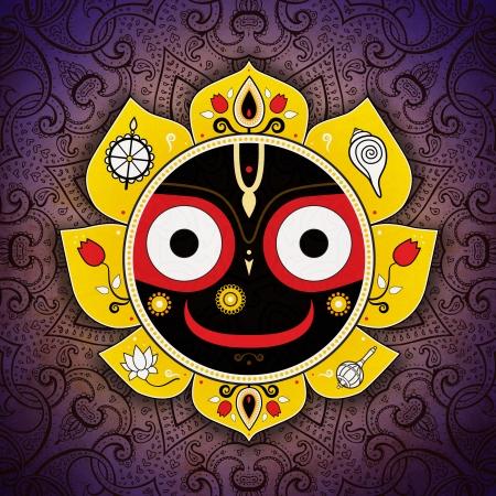 vedic: Jagannath. Indian God of the Universe. Lord Jagannatha. Stock Photo