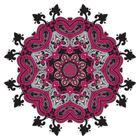 Mandala. Indian decorative pattern. Vector ethnic background.