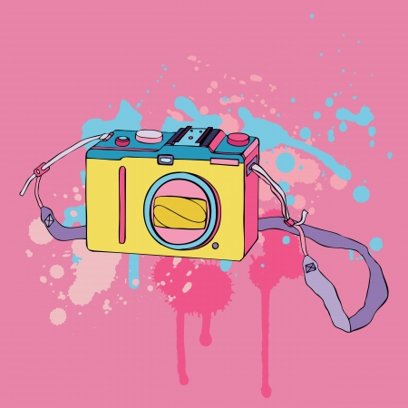 Photo Camera  Hand drawn Vector Illustration  Vector
