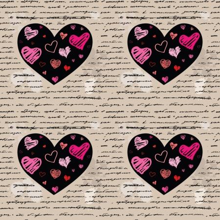 Heart design elements. Love. Handwriting vector background. Stock Vector - 23839280