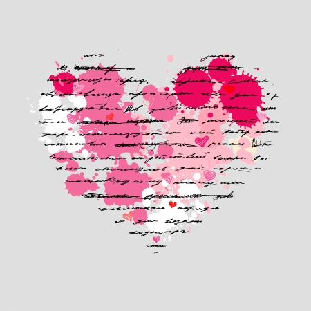 Heart design elements. Love. Handwriting vector background. Stock Vector - 23839282