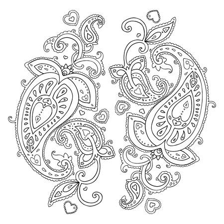 ペイズリー民族飾り分離ベクトル イラスト