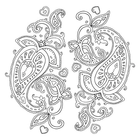 paisley background: Paisley  Ethnic ornament  Vector illustration isolated