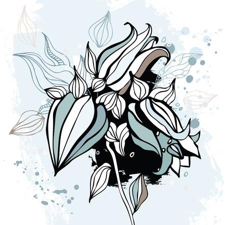 bluebell: Bluebell flower. Watercolor Hand drawn Vector illustration.