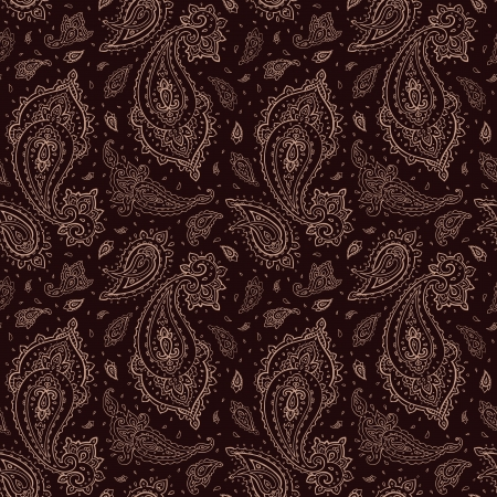 Seamless Paisley Hand Drawn vector pattern  Vector