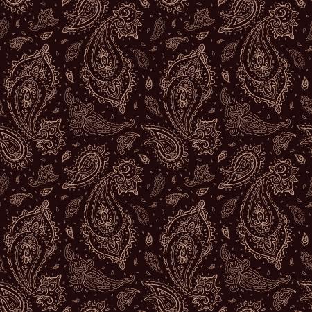 mhendi: Seamless Paisley Hand Drawn vector pattern