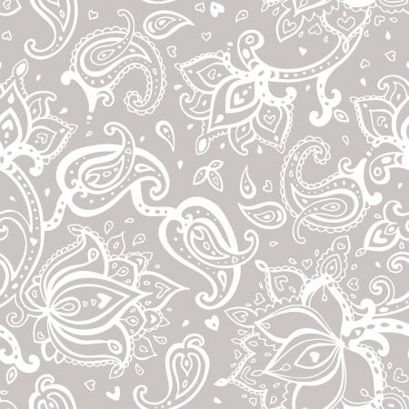 Fondo inconsútil de Paisley. Mano elegante Dibujado vector patrón. Foto de archivo - 24165661