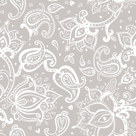Nahtloser Paisley-Hintergrund. Elegante Hand gezeichnet Vektor-Muster. Standard-Bild - 24165661