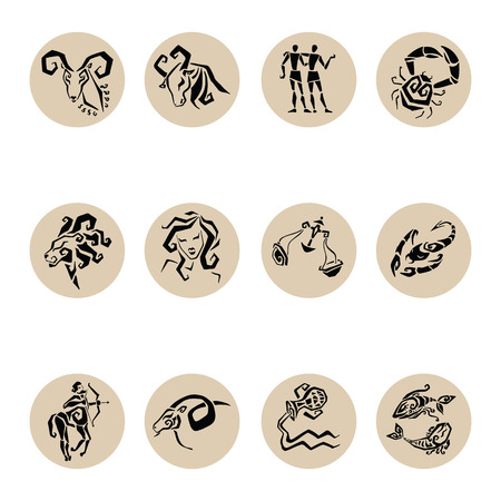 signes du zodiaque: Horoscope. Douze symboles des signes du zodiaque.