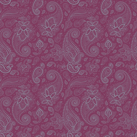 mhendi: Seamless Paisley background. Elegant Hand Drawn vector pattern.