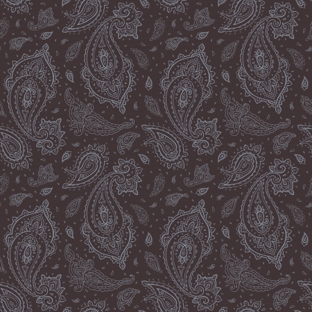 paisley: Paisley Seamless background Drawn rÄ…k wektor wzorca