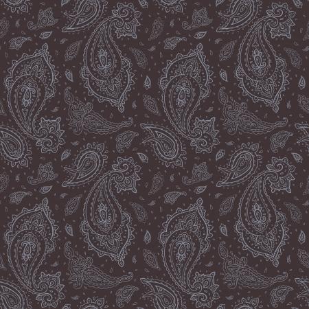 disegni cachemire: Seamless Paisley sfondo disegnato a mano vettore modello Vettoriali