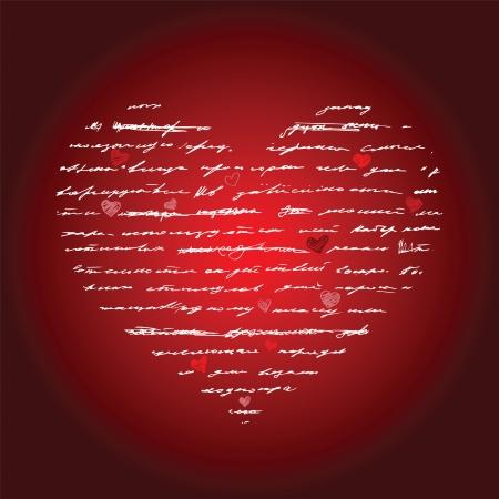Heart design elements. Love. Handwriting vector background. Stock Vector - 24205638