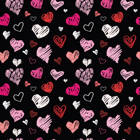 Heart pattern, vector seamless background. Stock Vector - 24205640