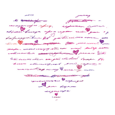 Heart design elements. Love. Handwriting vector background. Stock Vector - 24205643