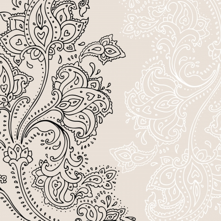 Paisley background  Hand Drawn ornament   Vector illustration