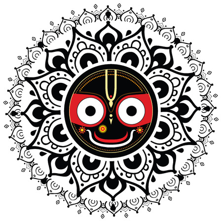 Jagannath  Indian God of the Universe  Lord Jagannatha  Illustration
