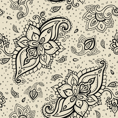 Seamless Paisley background. Hand Drawn vector pattern. Stock Vector - 24350198