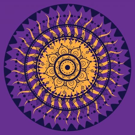 Mandala. Indian decorative pattern. Vector illustration. Stock Vector - 24350201