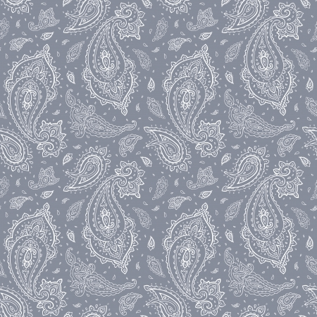 Seamless Paisley background  Elegant Hand Drawn vector pattern  Vector