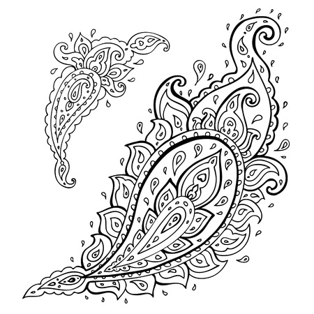 Paisley. Ethnic ornament. Vector illustration isolated. Vector