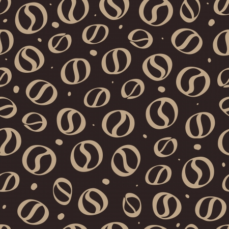 Abstract Coffee background. Seamless Vector Illustration. Vector