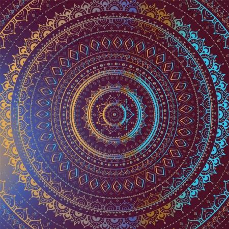 Vector vintage background.  Mandala. Indian decorative pattern. Vector