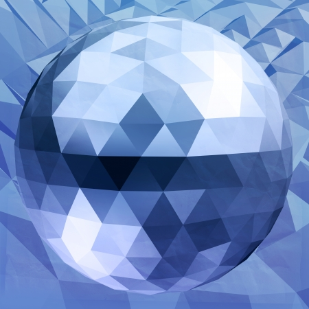 Abstract 3D geometric illustration. Dsco ball Isolated over white. illustration