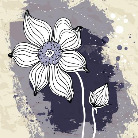 snowdrop: Snowdrop flower Crumpled paper illustration