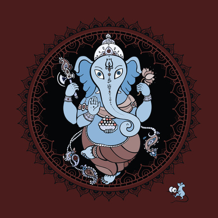 Hindu God Ganesha. Vector hand drawn illustration. Stock Vector - 26501213