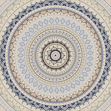fortune flower: Vector vintage background.  Mandala. Indian decorative pattern.