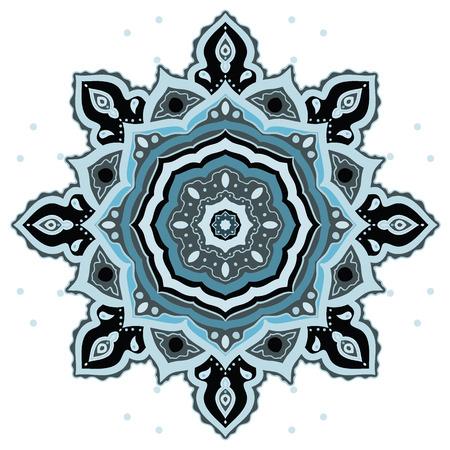 background kaleidoscope: Mandala. Indian decorative pattern. Vector ethnic background.