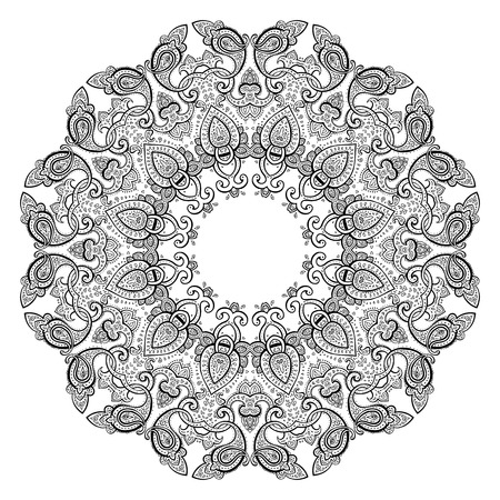 fortune flower: Mandala. Indian decorative pattern. Vector illustration.