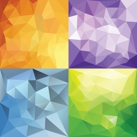 Abstract Geometric backgrounds. Polygonal vector backgrounds.