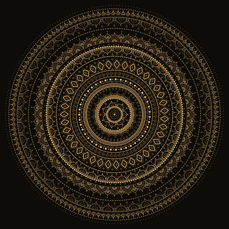 vintage background Mandala Indian decorative pattern. 矢量图像