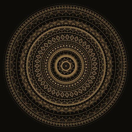 fortune flower: vintage background Mandala Indian decorative pattern. Illustration