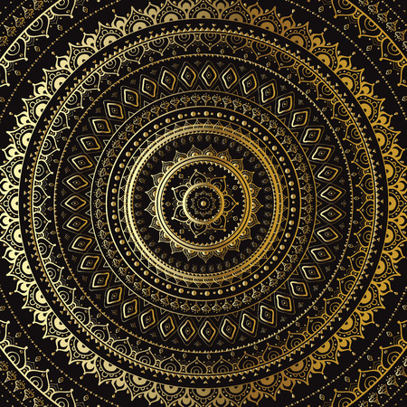 vintage background Mandala Indian decorative pattern. Vector