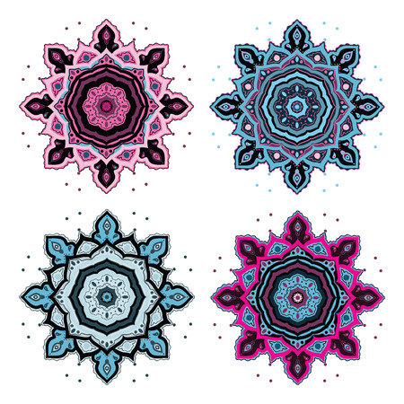 Mandala set Indian decorative pattern. Vector