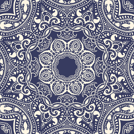 kaleidoscope: Mandala  Vector vintage background   Circular Decorative pattern