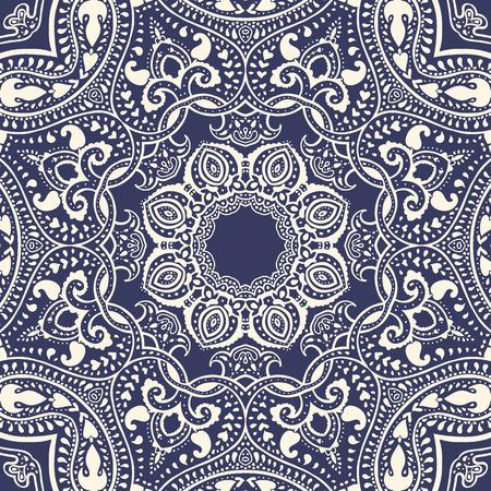 Mandala Vector vintage background Circolare del modello decorativo