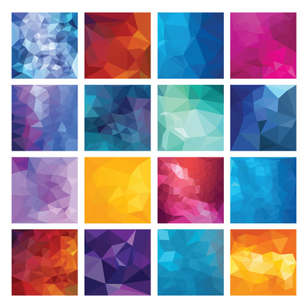 Abstract Geometric backgrounds  Polygonal vector design