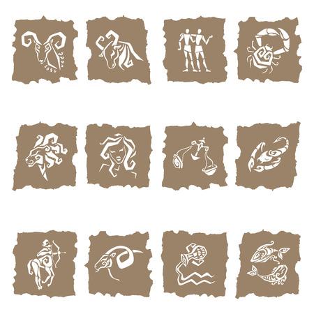 signes du zodiaque: Symboles Horoscope Douze des signes du zodiaque