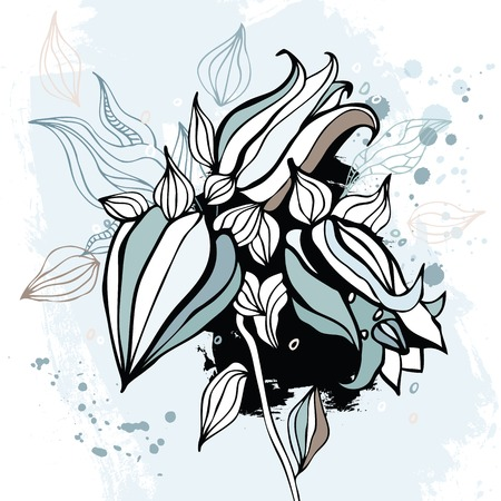 Bluebell flower  Watercolor Hand drawn Vector illustration  Vector