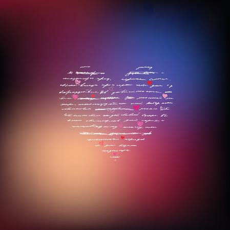 love wallpaper: Heart design elements  Love  Handwriting vector background  Illustration
