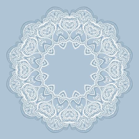 Lace background  Beautiful Mandala  Ethnic Vector illustration  Stock Vector - 27736459