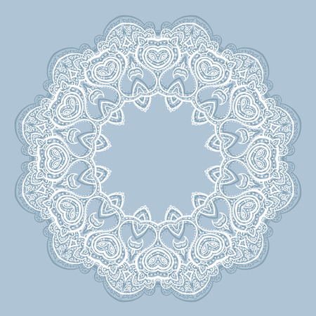 lace vector: Lace background  Beautiful Mandala  Ethnic Vector illustration