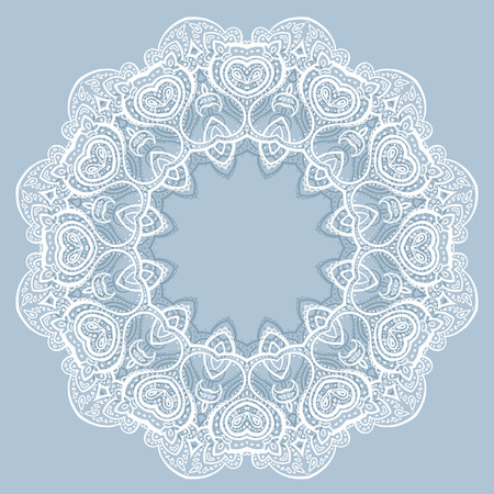 Lace background  Beautiful Mandala  Ethnic Vector illustration  Stock Vector - 27736460