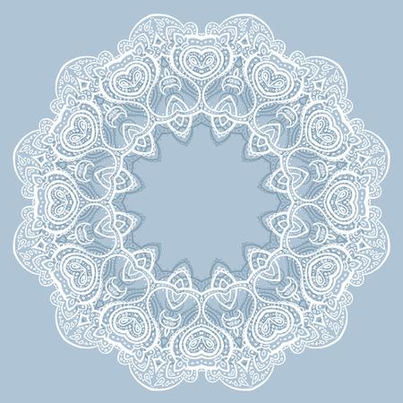 Lace background  Beautiful Mandala  Ethnic Vector illustration Stock Vector - 27736460
