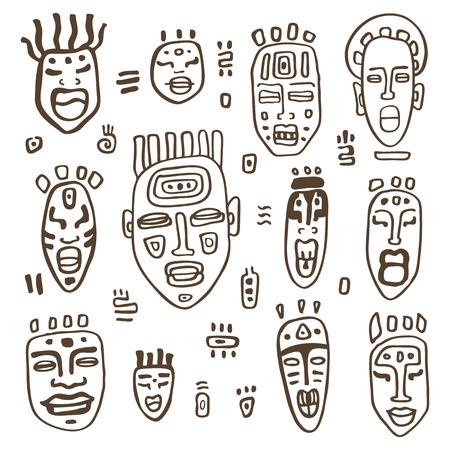 Máscara Totem Ilustraciones Vectoriales, Clip Art Vectorizado Libre ...